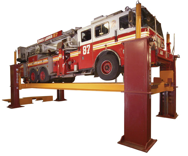 Tr 110 120 Four Post Truck Lift And Truck Hoist Mohawk Lifts