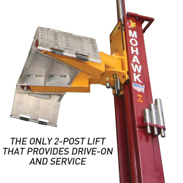 The Only 2 Post Lift That Provides Drive-On and Service