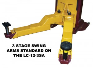Two Post Auto Lift 3 Stage Swing Arms