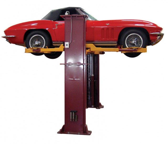 2 Post Car Storage Lift with Wheel Engaging Kit